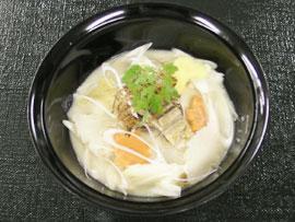 鯖の変わり千場汁(味噌粕チーズ仕立て)