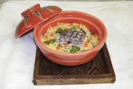 車子と山菜の味噌炊き飯
