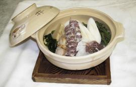 シャコと山菜の春鍋