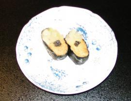 雲丹フォアグラにぎり寿司 キャビア添え