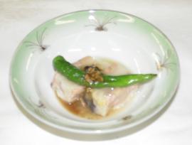 秋鮭とじゃが芋の酒粕蒸し