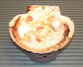 チーズとトマトの貝焼き味噌