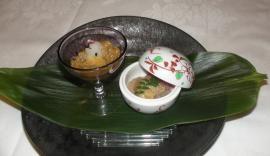 タイとタイのわたの塩辛2種盛り