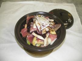 鮪陶板焼~チャイニーズ風XO醤味噌で